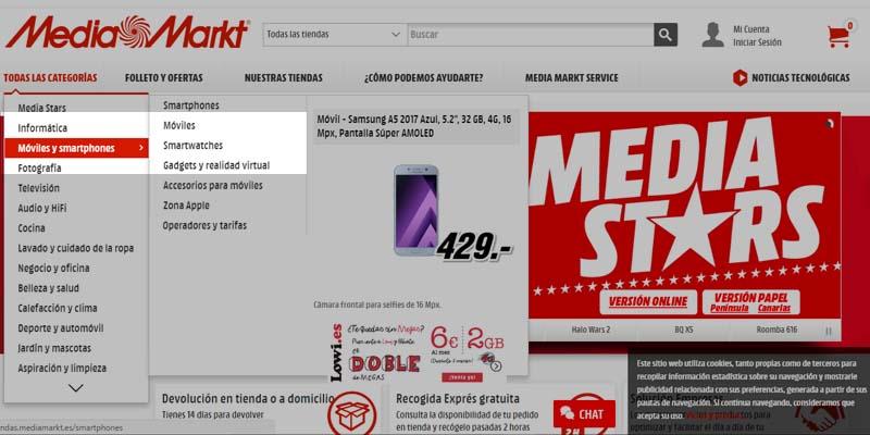 Ejemplo de finsability de Media Markt