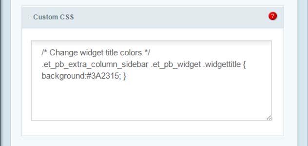 Imagen del código CSS de Extra para modificar el color de la barra lateral